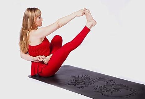 Artmatic Premium Esterilla de Yoga/Natural Base de Goma + ...