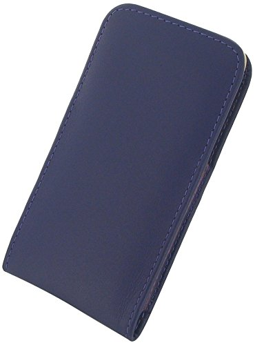 """Apple iPhone 6 (4.7"""") Leather Case / Cover Protective Carrying Phone Case / Cover (Handmade Genuine Leather) - Vertical Pouch Type (WITH Belt Clip) (Purple) by Pdair"""
