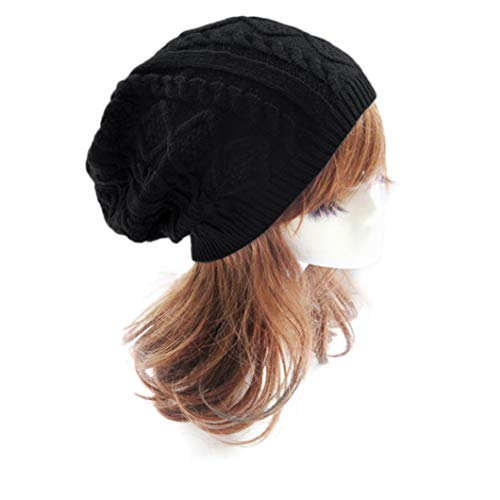 TRESOMI Baggy Striped Knitting Skull Beanies Hats Unisex Solid Color Breathable Thermal Stretch Caps