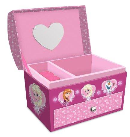 Disney Frozen - die Eiskönigin, Elsa Anna Olaf (301665) Schmuckkasten Schmuckschatulle mit Schublade und Spiegel, 14 x 9 x 12 cm, pink/rosa