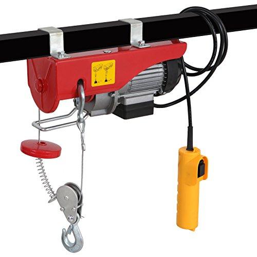 440/880LBS Electric Hoist Lift 110V Overhead Electric Wire Hoist Crane Garage Auto Shop w/Remote Control (440LBS)