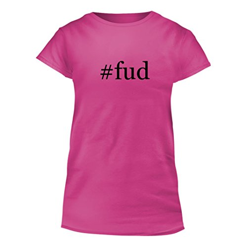 Price comparison product image #fud - Junior Cut Hashtag Women's T-Shirt, Pink, XXX-Large