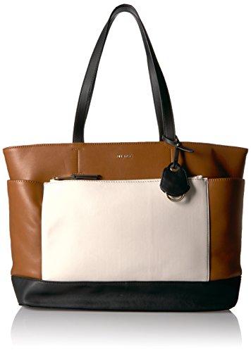 Nine West Marah Shoulder Bag, Tobacco/Milk/Black