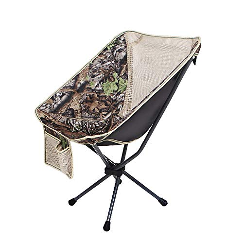 XHLZDY Outdoor Storage Portable Folding Chair, Mini Backrest Fishing Moon Chair Backpack Sketching Camping Chair - Camouflage, Light Blue (Color : Camouflage) (Chair Papasan Camo)