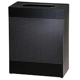 Rubbermaid Commercial Silhouette Designer Wastebasket, Rectangular, 40-Gallon, Black (FGSR18ERBTBK)