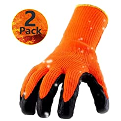 Cold Weather Thermal Work Gloves 2 Pack,...