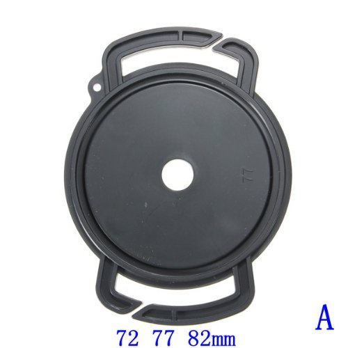 Holder Buckle - Higere Camera Lens Cap Buckle Holder Keeper Anti Lost Button 72mm 77mm 82mm (Black)