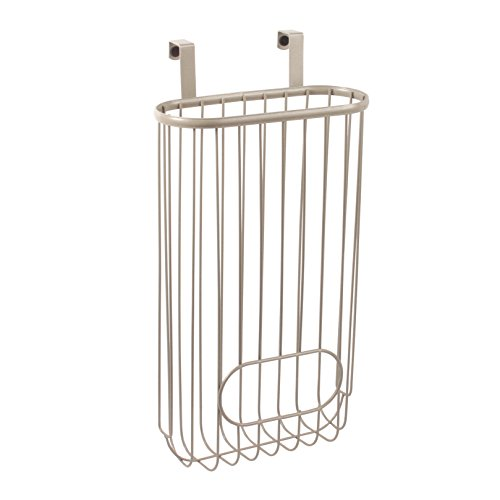 Spectrum Diversified Ashley Over The Cabinet Recycling Bag Storage, Satin Nickel ()