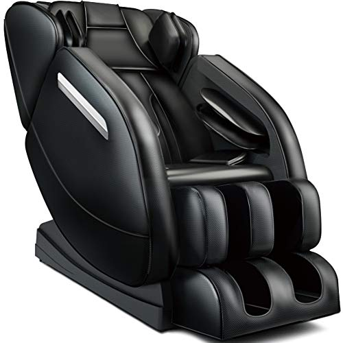 Full Body Massage Chair,Zero Gravity Shiatsu Recliner with Air Bags,Back Heater,Foot Roller and Blue-Tooth Speaker,Black