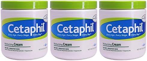 Cetaphil Moisturizing Cream for Dry, Sensitive Skin, 20 Ounce, (Pack of 3)