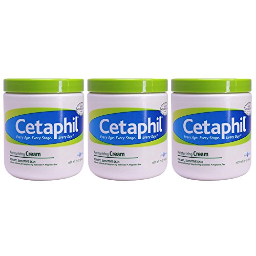 Cetaphil Moisturizing Cream for Dry, Sensitive Skin, 20 Ounce, Pack of 3