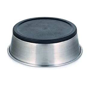 Personalized Stainless Steel Bowl with Rubber Base (16 oz., Stainless Steel)