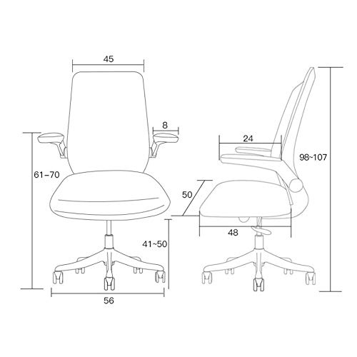 MISS&YG Ergonomisk kontorsstol, nät datorstol, hemmakontor stol fjäril ländrygg stöd, 360 graders rotation, rundade hörn, grå Svart