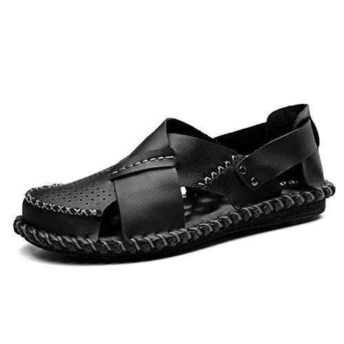 WLFHM Sandali Primaverili Scarpe da Spiaggia Sandali con Buco Casual E Pantofole Black