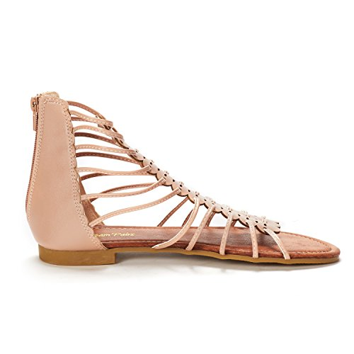 Roman nude PAIRS 01 Gladiator DREAM Sandals Flat Women's Fashion gCPnxCwqTH