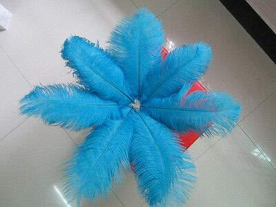 FidgetGear 卸売10-100個の美しいダチョウの羽30-35 cm / 12-14インチ 青   B07S77G5V3