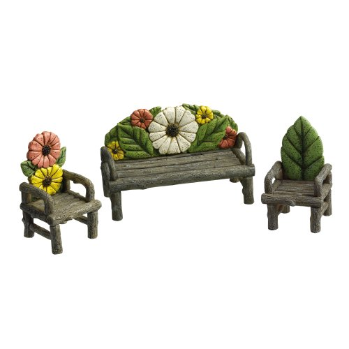 AMSCAN Grasslands Road Miniature Flower Couch and 2 Chair...