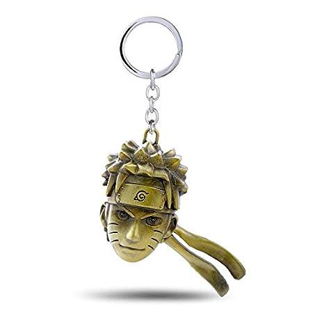 Amazon.com : Key Chains - Anime Uzumaki Naruto Head Metal ...