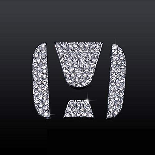 MAXMILO Car Interior Bling Steering Wheel Accessories for Honda Accessories Parts Bling Civic Accord Fit CRV HRV Pilot Odyssey Clarity Covers Interior Decoration Trim Women 3D Rhinestone Decals Cover