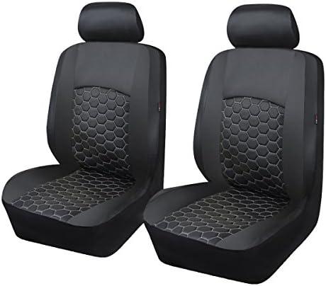 PU Leder Rücksitzschoner Rückbank Schonbezug 2PCS Front Autositz Sitzmatte