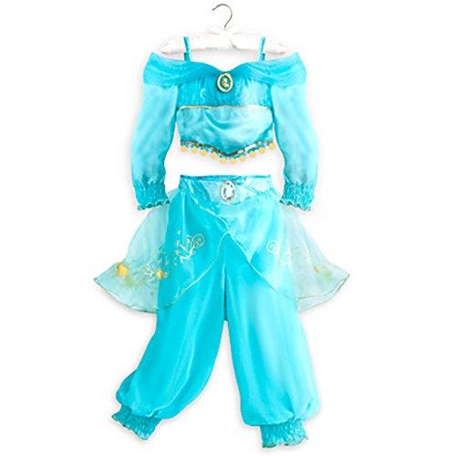 Disney Store Little Girls 2 Piece Aladdin Princess Jasmine Costume (9/10) (Princess Jasmine Costume For Kids)