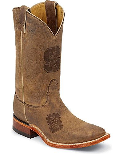 Nocona MDNCS12 Mens North Carolina State Brown Cowhide Branded College Boots State IdnuboIVRa
