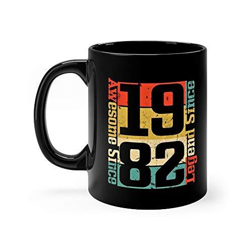 36th Birthday, Awesome Since 1982 Funny Gift Idea Happy Thanksgiving 11ozBlack -