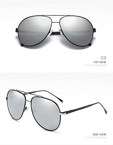 para C3 Hombre Polarizadas Sol Gafas UV 400 Mujer Aviator para De Protección C1 xq7E0a0wYn