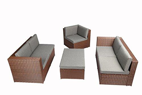 Baner garden k35 4 pieces outdoor furniture complete patio wicker rattan garden corner sofa - Must have pieces for your patio furniture ...