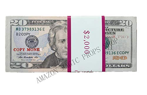 No Trademark COPY MONEY Total $10, 000 Dollar $20X500 Pcs FAKE MONEY US Currency Props Advertising & Novelty Real Looking New Style Copy Double-Sided Printing - for Movie, TV, Videos