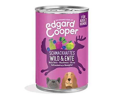 Edgard Cooper natürliches Premium Nassfutter für Adult Hunde in Dosen – 6 x 400g – Wild & Ente – getreidefrei