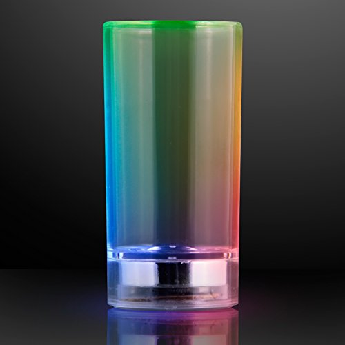 Color Changing Light Up Shot Glass with Liquid Activated LED