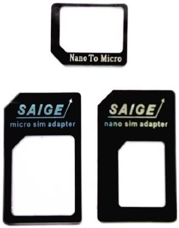 Samdi Sim Card Adapter Kit Includs Nano Sim Adapter//Micro Sim Adapter//Needle//Storage Sheet Sim Card Holder Blue-Black ,Easy to Use and Storage Without Losing Them