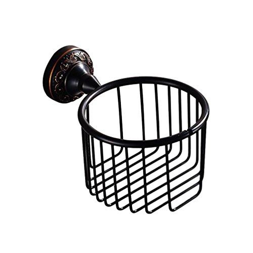 Bathroom Round Shower Basket Oil Rubbed Brushed Finish by GUMA