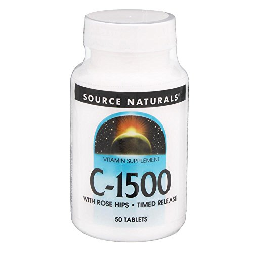 C-1500 with Rose Hips Source Naturals, Inc. 50 Sustained Release Tablet ()
