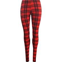 R KON Women's Printed Skinny Full Length Stretchy Trouser Leggings Pants