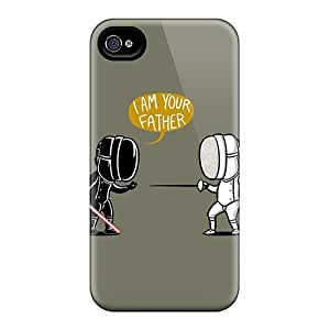 CarlHarris Snap On Hard Cases Covers Fencing Star Wars Protector For Iphone 4/4s
