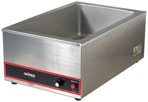 Winco Commercial Portable Steam Table Food Warmer 120V 1200W -