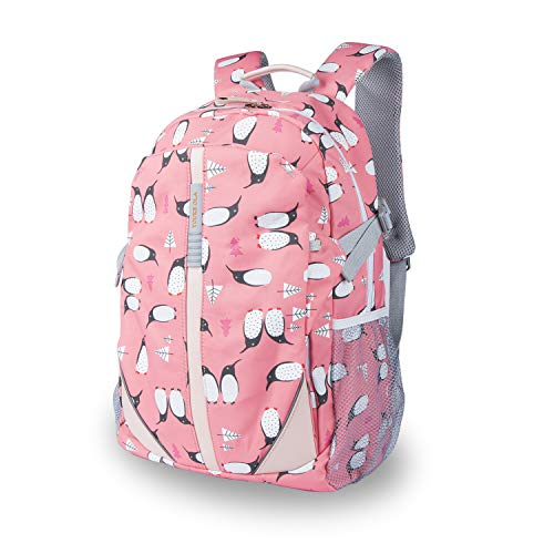 Lightweight Printed Backpack - School Bag for Teen Girls Boys Penguin Cartoon Printed Travel College School Bags Color Red