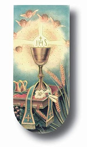 - FavorOnline Chalice First Communion Bookmark Magnets with Communion Payer on The Back - Set of 10