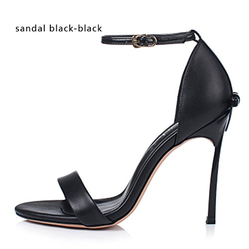 12 Delgada De Zapatos Cm sandal Bowtie Fiesta De Zapatos 8 De black Zapatos Las 10 Tacones Cm Sandalias Tacón Boda De Altos VIVIOO Alto Calidad Mujeres Alta black Cm q1wgT1Y