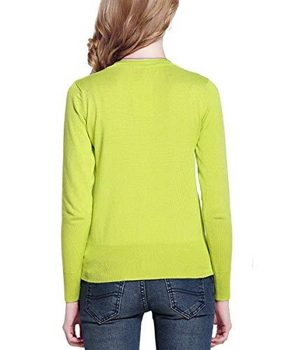 Monocromo Giovane Giacca Manica Saoye Profondo 1 Abbottonatura Yellow Lunga Elegante Maglia Casual Cappotto Corto A A Fashion Button Maglia Outwear Cardigan Autunno Semplicemente V Donna zrrwXO7US