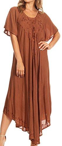 brown crochet dress - 8