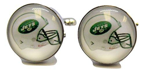 New York Jets Cufflinks (Men's NFL Cufflinks New York Jets Cuff Links)