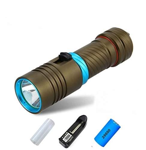 1 Pack 2000 Lumen 10W XM-L2 LED Flashlight Underwater Scuba