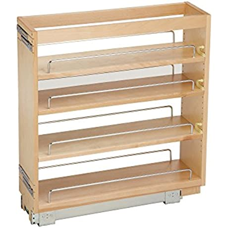 Rev A Shelf 448 BC 6C 6 5 In Pull Out Wood Base Cabinet Organizer