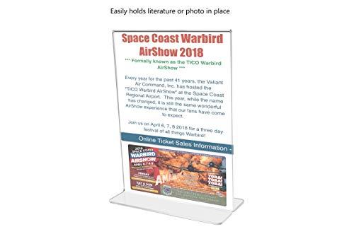 Marketing Holders Sign Holder Literture Flyer Display Stand Bottom Load Frames 11''w x 14''h Pack of 10 by Marketing Holders (Image #2)