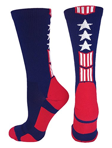 MadSportsStuff Patriot Stars and Stripes Athletic Crew Socks (a number of colours) – DiZiSports Store