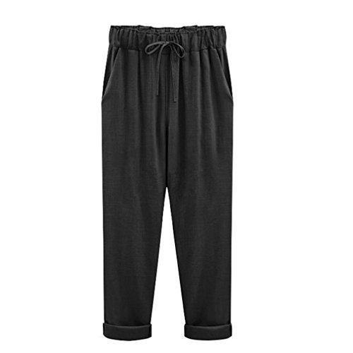 Pantaloncini Corti M Vita Elastico Eleganti Estivi Pantaloni Bermuda Da Donna Spiaggia In Nero Size Estate Leey Shorts Sportivi Plus 6xl 1OcWTSn