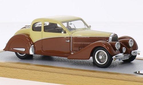 Bugatti Type 57 Coach Ventoux Gangloff Speciale Thill, beige/brown, RHD, 1936, Model Car, Ready-made, Chromes 1:43